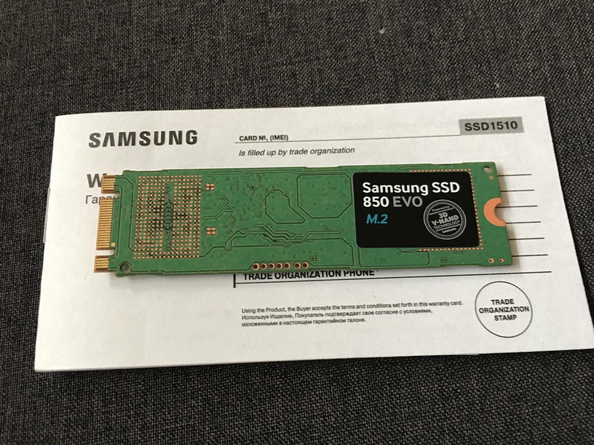 SAMSUNG 850 EVO M.2 500GB SATA III Internal SSD MZ-N5E500BW