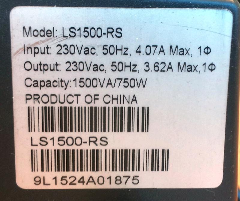 Стабилизатор напряжения APC Line-R LS1500-RS - изображение 14