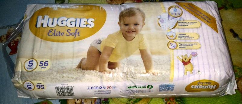 Обзор на Подгузники Huggies Elite Soft (Хаггис Элит Софт) 5 (12-22 кг), 56 шт. - изображение 1