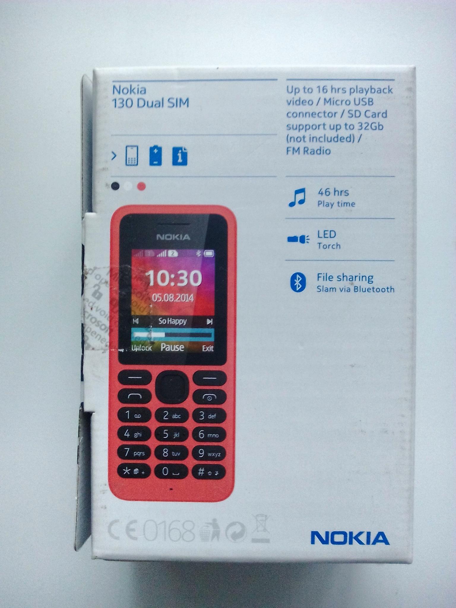 Nokia 130 Dual Sim Kamera New 1