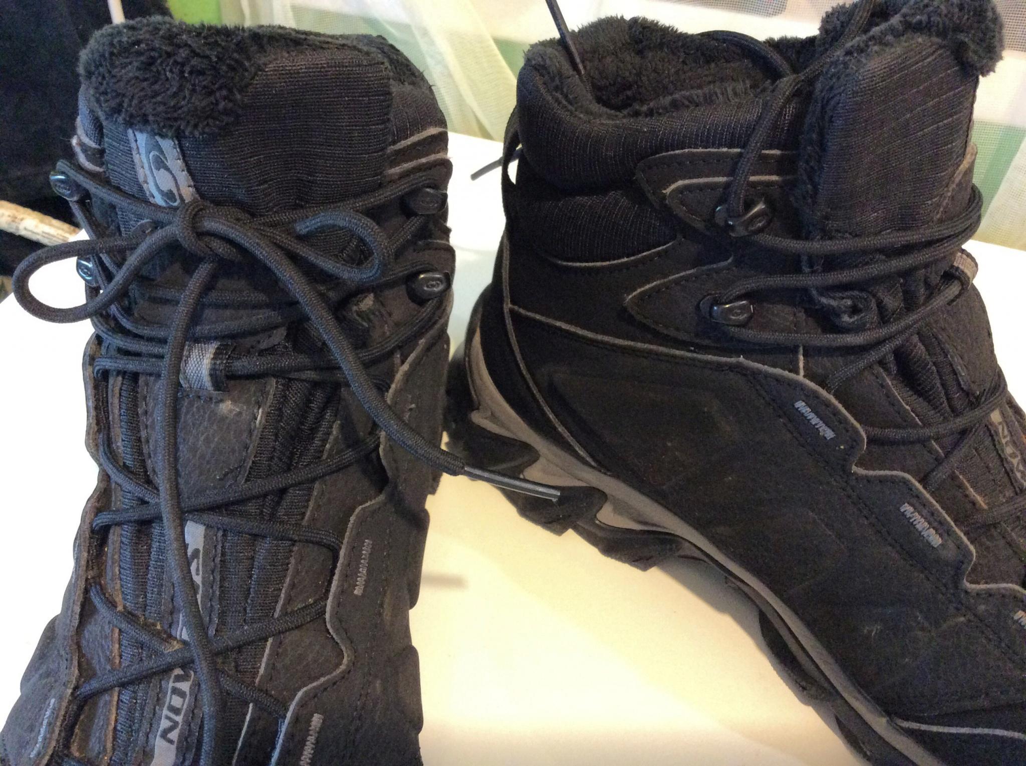 8fa88240 Обзор на Ботинки SALOMON ELBRUS WP M L10875100 мужские, цвет черный, рус.  размер