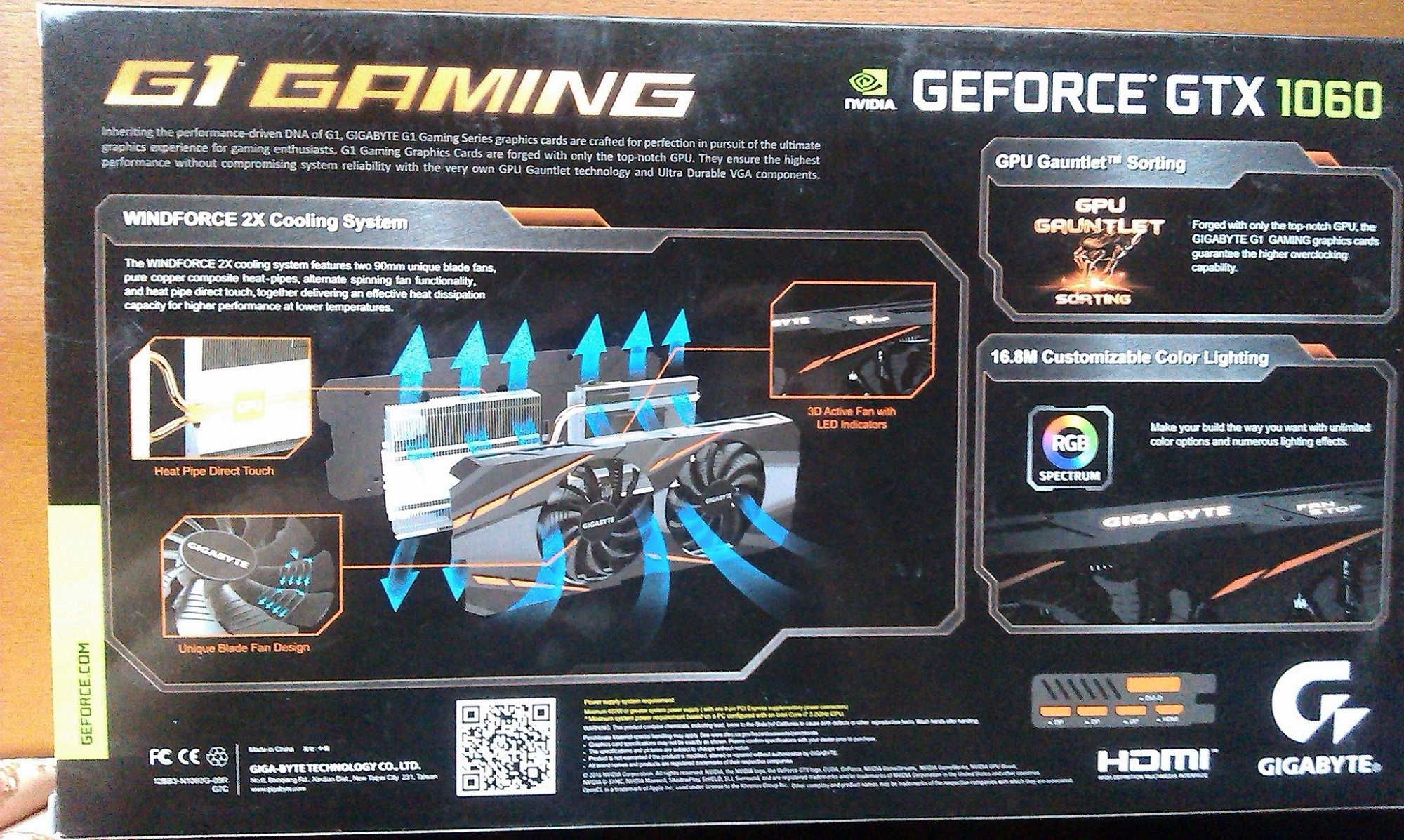 Gigabyte Geforce Gtx 1060 1620mhz G1 Gaming Pci E 30 6144mb 8008mhz 192 Bit