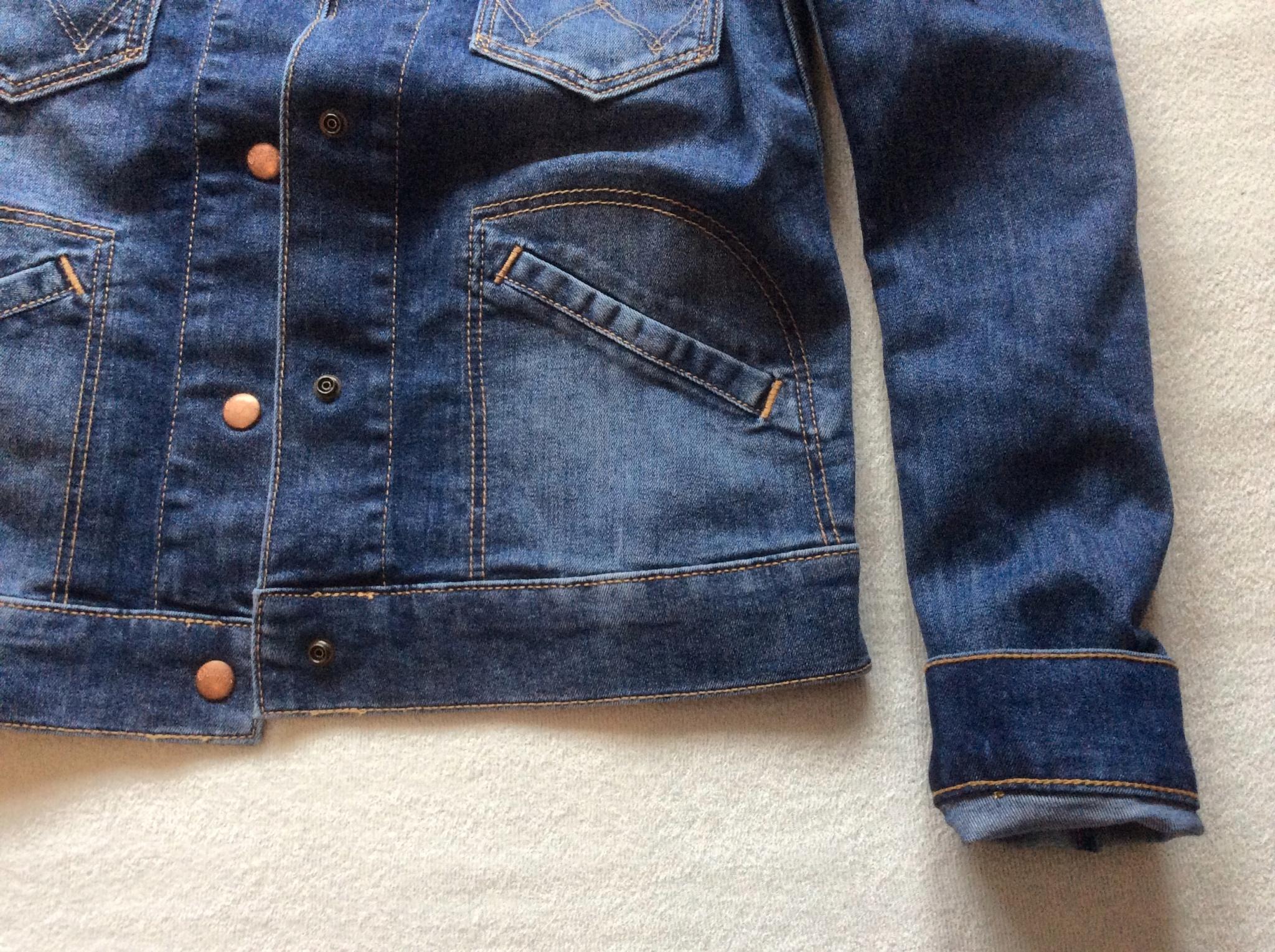 66d87fbebb0 Обзор от покупателя на Куртка джинсовая Wrangler W4039372T женская ...