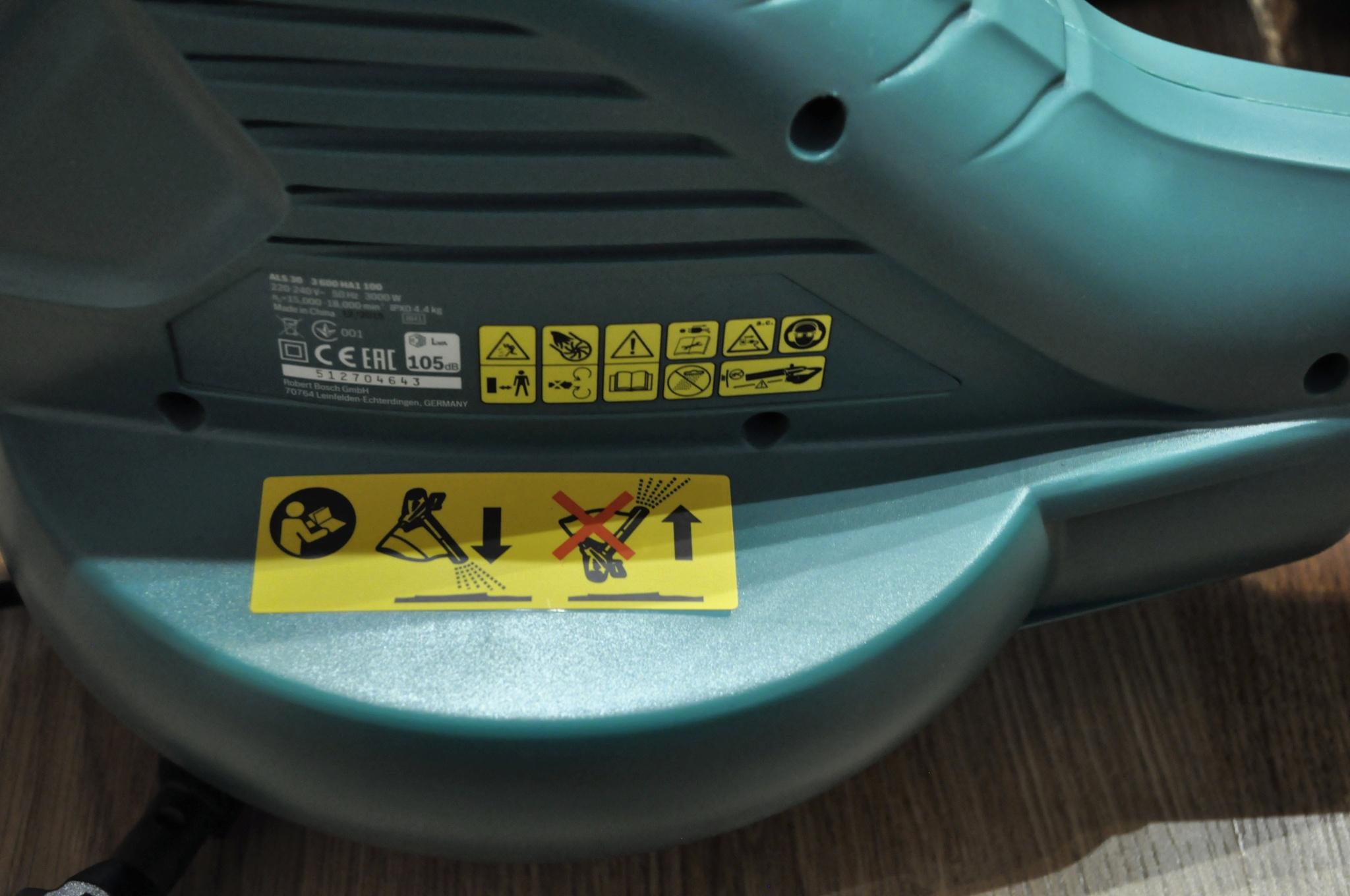 7c67559ef5b4 Обзор на Воздуходувка-пылесос Bosch ALS 30 + сумка + перчатки размера L -  изображение