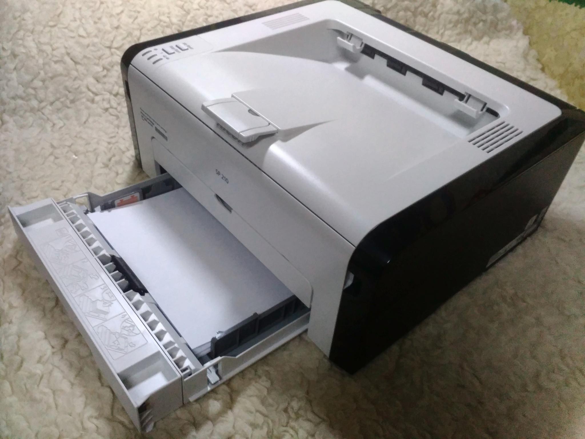 Обзор от покупателя на Лазерный принтер Ricoh SP 210