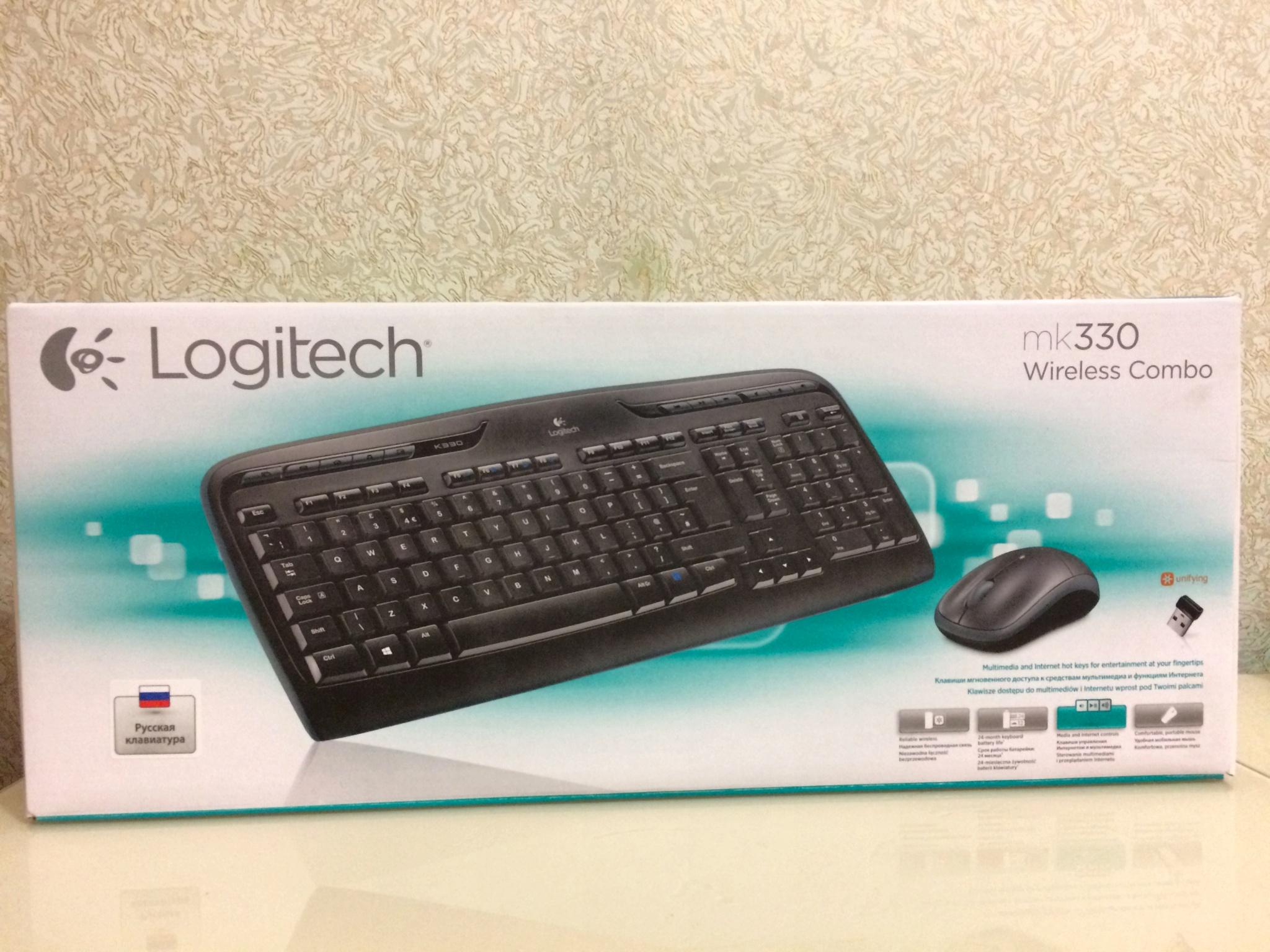 Обзор от покупателя на Комплект клавиатура и мышь Logitech Wireless