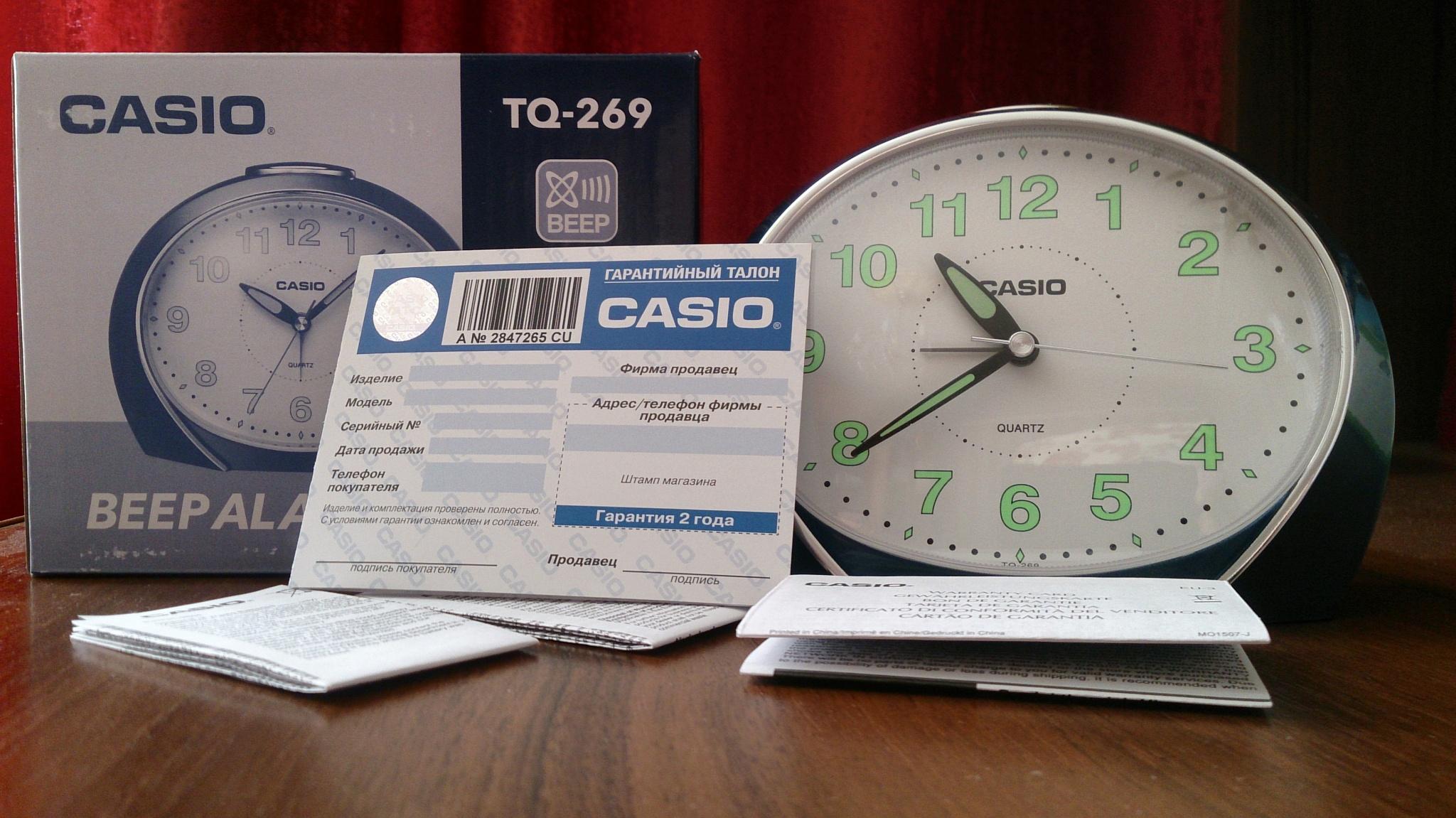 b67ae835 Обзор от покупателя на Настольные часы CASIO TQ-269-2E — интернет ...