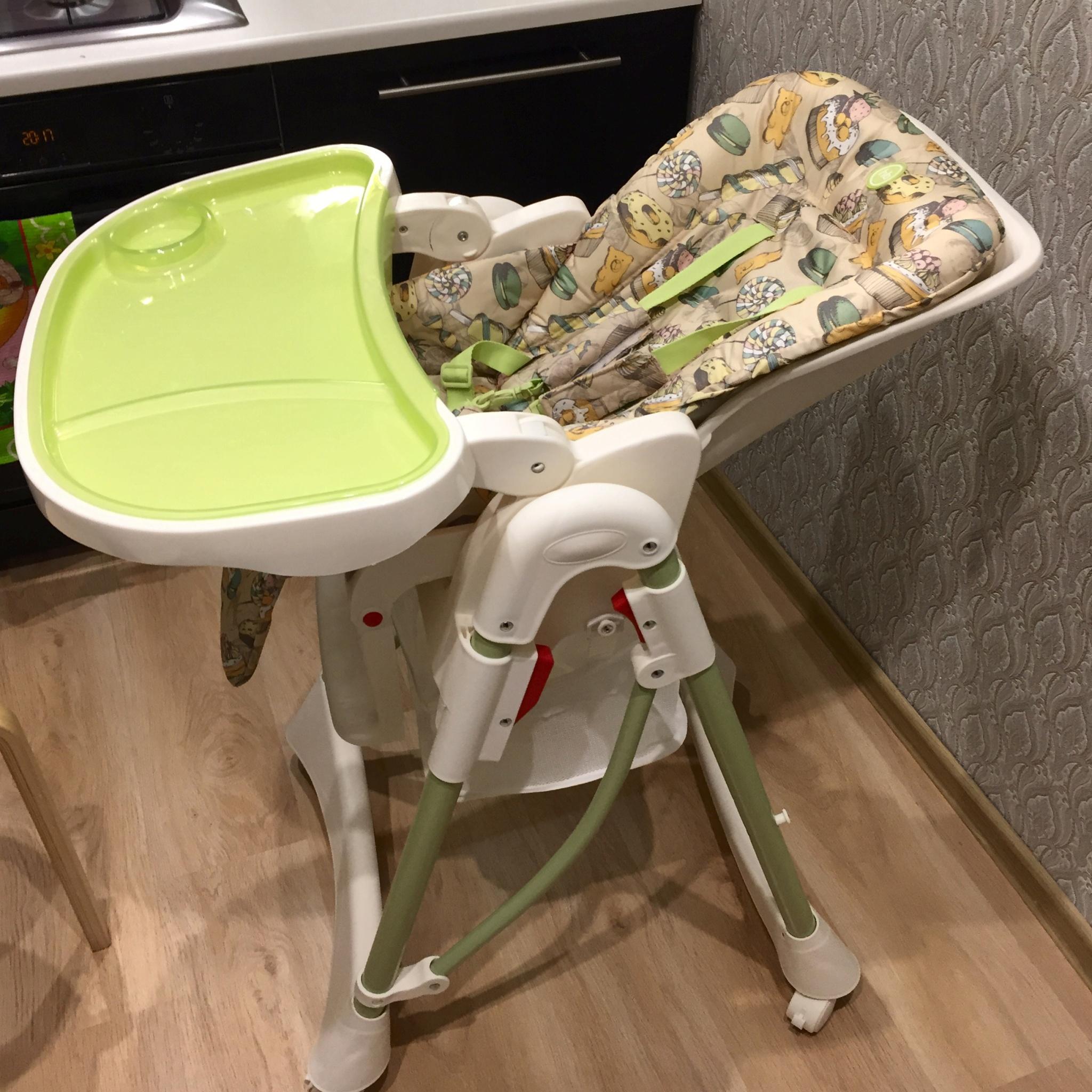 обзор от покупателя на стульчик для кормления Happy Baby Kevin V2