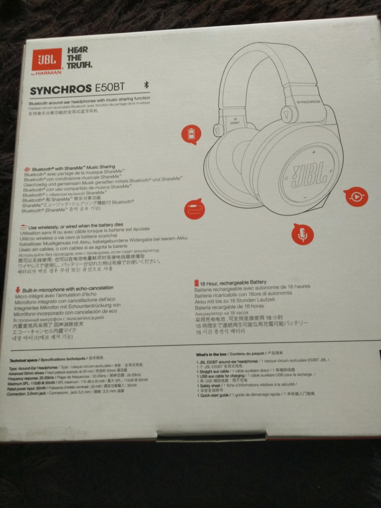 обзор от покупателя на беспроводные наушники Jbl Synchros E50bt