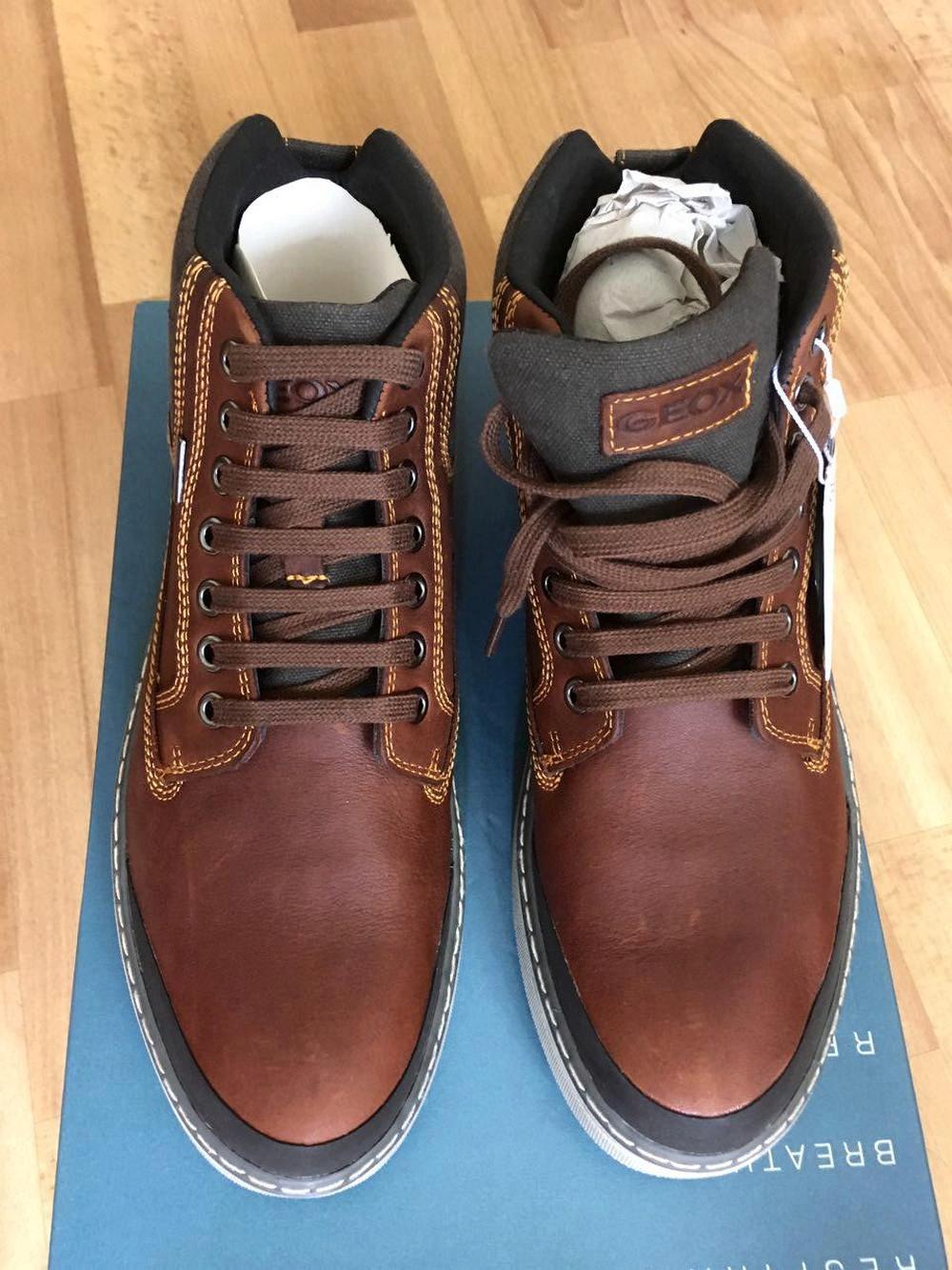 efef1c8ce Обзор на Ботинки Geox U44T1B мужские , цвет коричневый, рус. размер 41 -  изображение