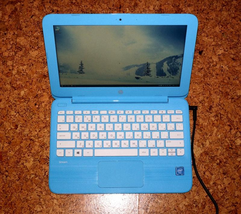 """Обзор на Ноутбук HP Stream 11-y004ur Cel N3050/4Gb/32Gb SSD/Intel HD/11.6"""" HD/noDVD/Win10/Aqua Blue - изображение 1"""