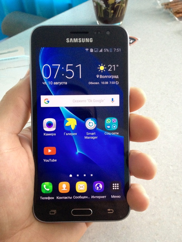 d0b62c9c5357 Обзор на Смартфон Samsung Galaxy J3 SM-J320F (черный)