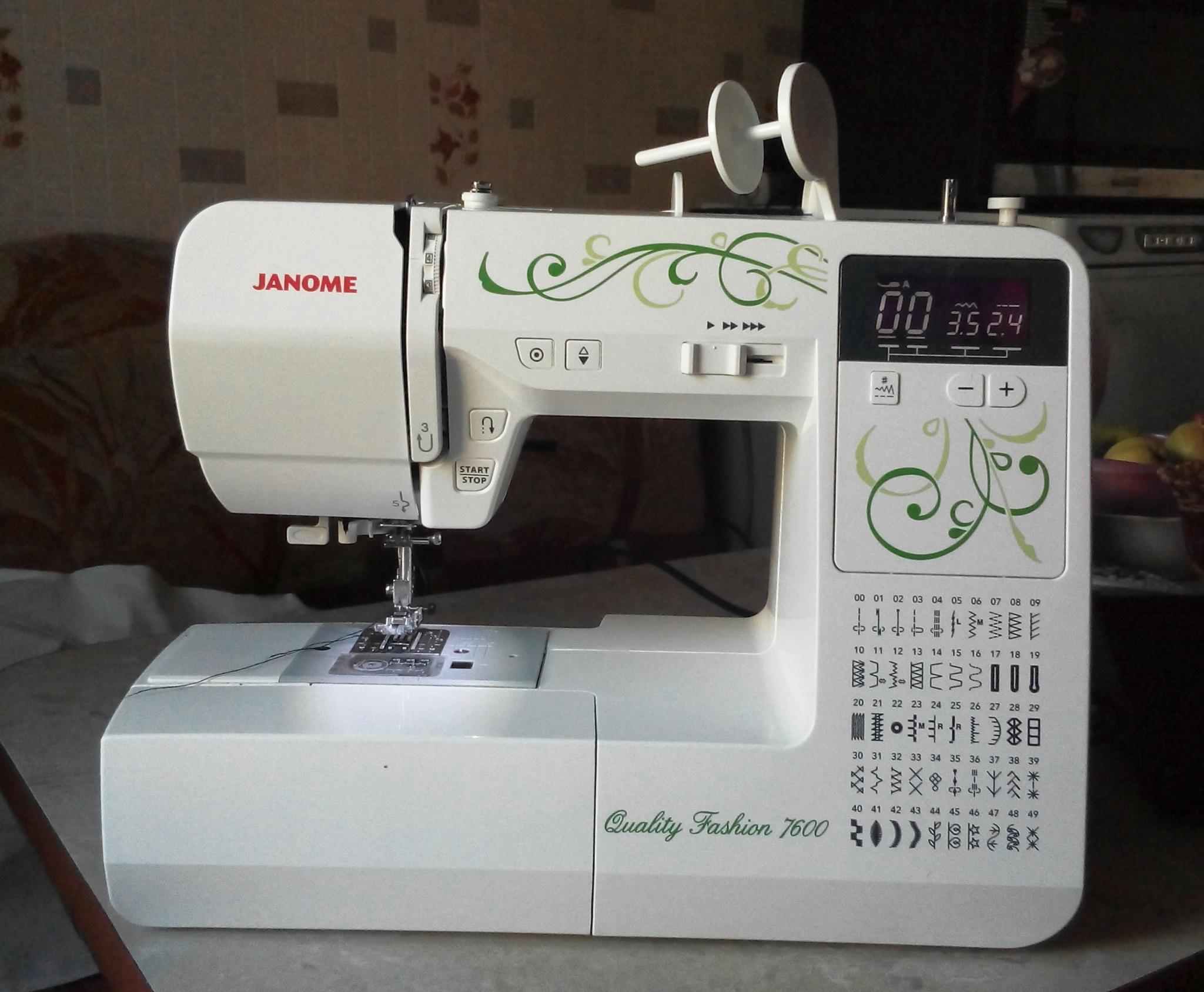 Janome quality fashion qf 7600 ercolano шкатулки оптом