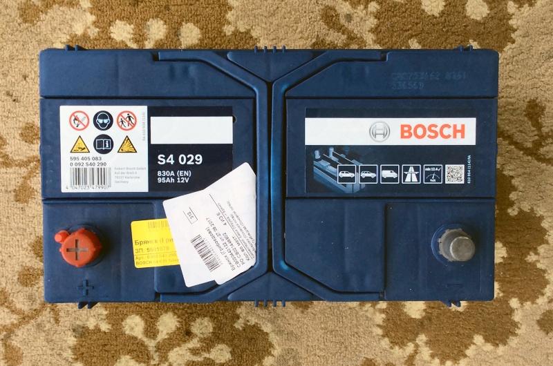 Обзор на Аккумулятор BOSCH S4 029 Silver 595 405 083 прямая полярность 95 Ач - изображение 1