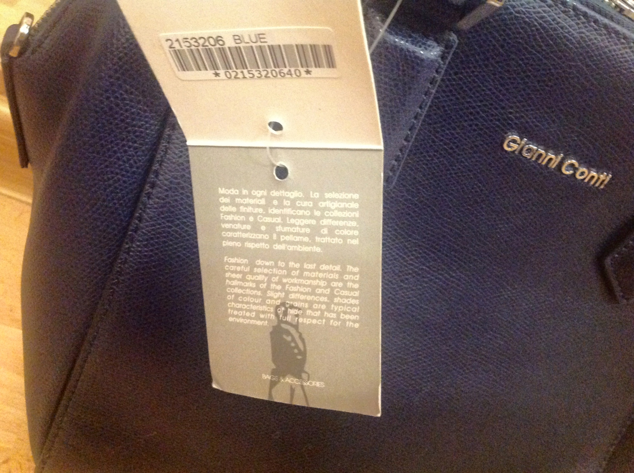 Обзор на Женская сумка Gianni Conti 2153206 blue, темно-синий - изображение  4 d0899212374