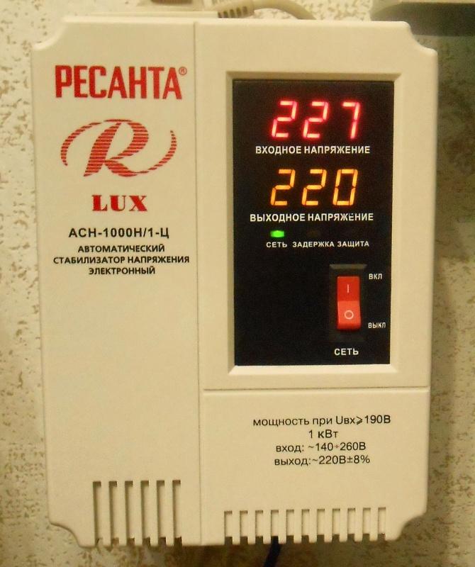 Обзор на Стабилизатор напряжения Ресанта АСН-1000Н/1-Ц Lux - изображение 10