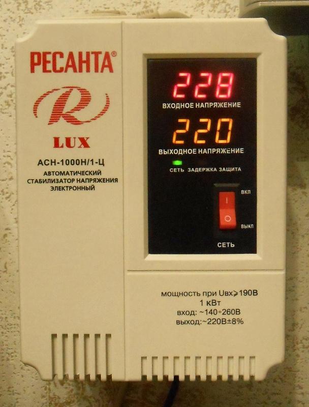 Обзор на Стабилизатор напряжения Ресанта АСН-1000Н/1-Ц Lux - изображение 9