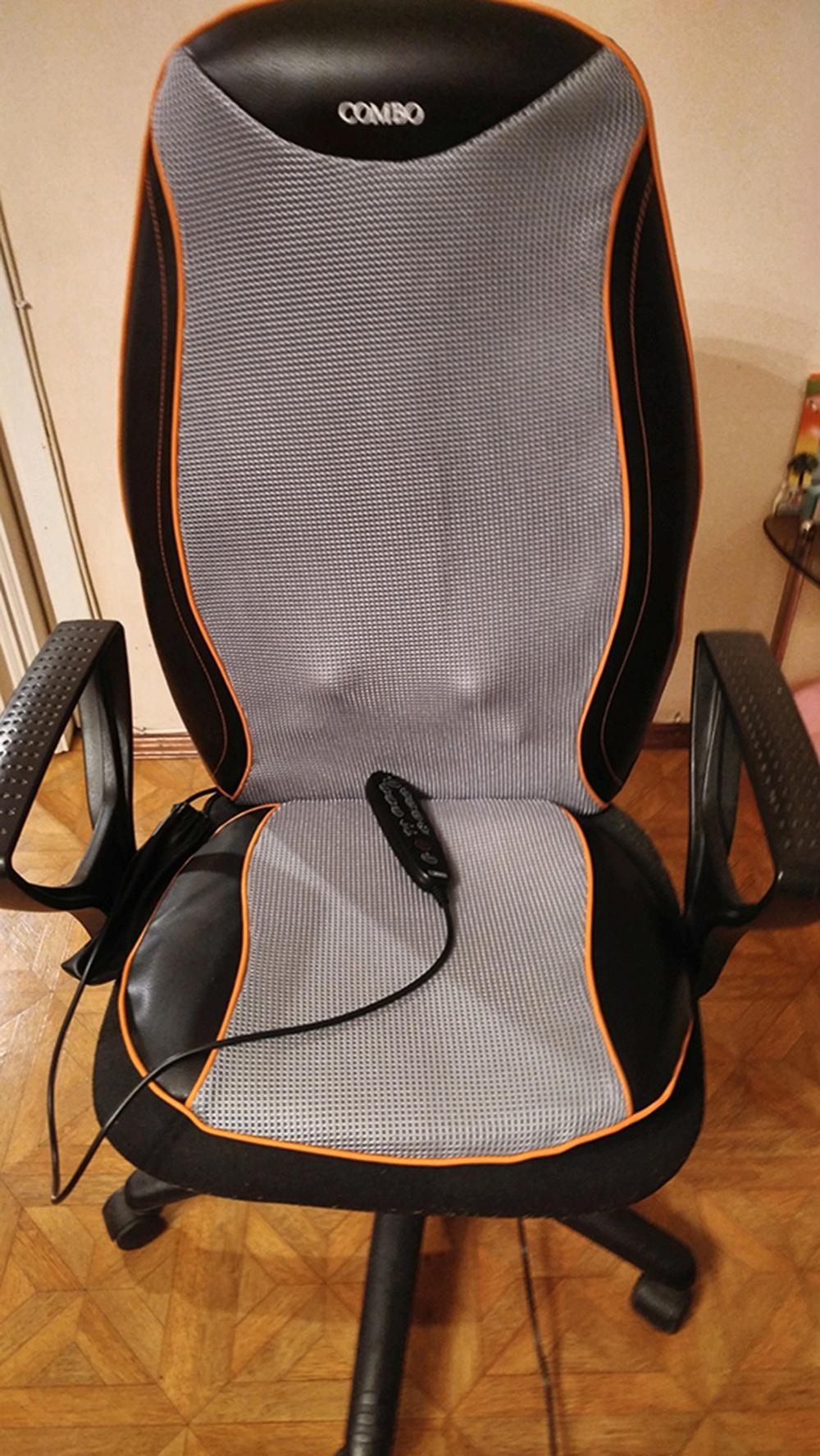 Массажер на стуле антицеллюлитный роликовый массажер большой