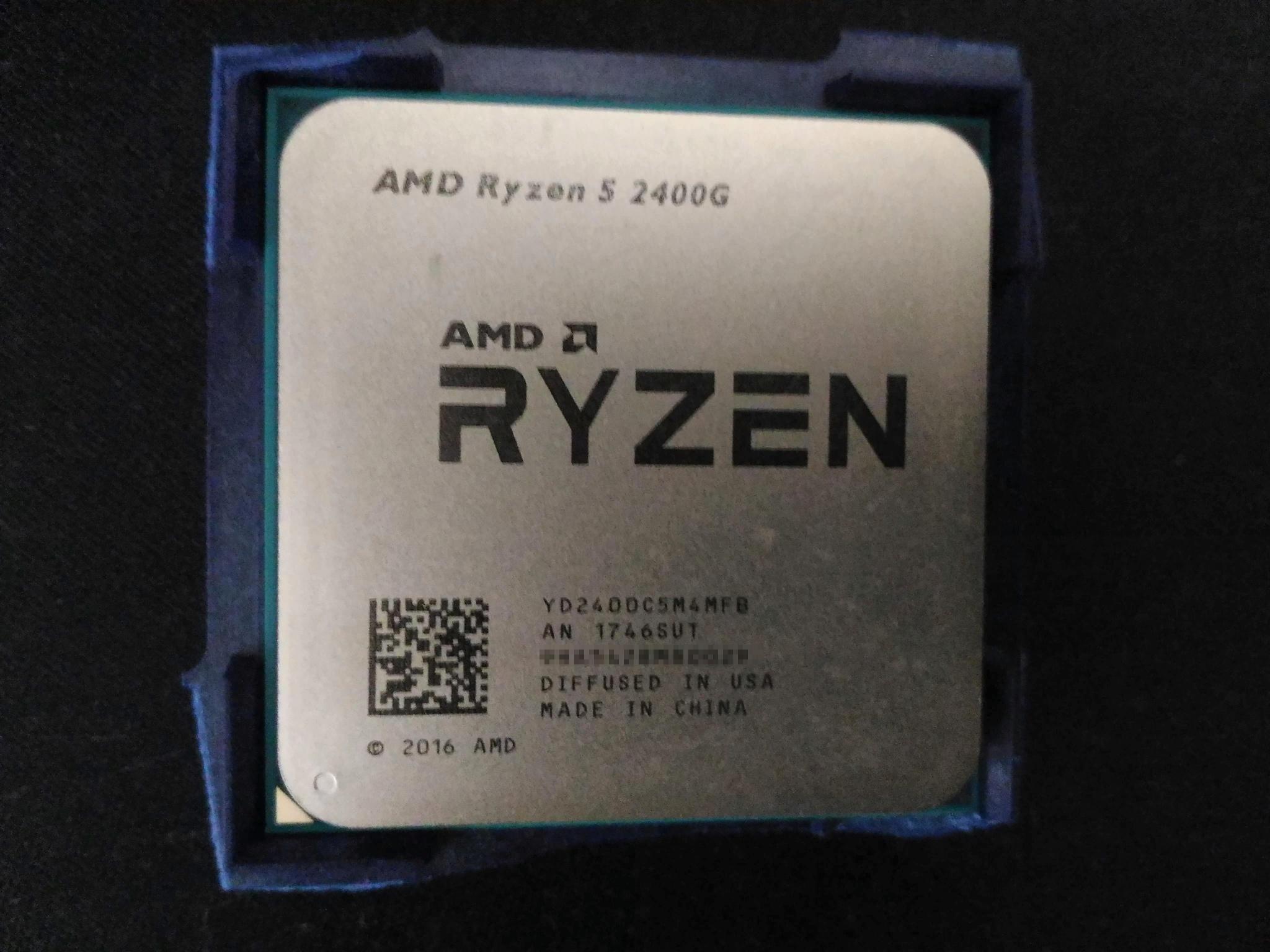 Обзор от покупателя на Процессор AMD Ryzen 5 2400G AM4 OEM