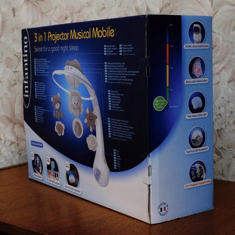 Обзор на Музыкальный мобиль-проектор 3 в 1 (серо-бежевый), 4915 Infantino - изображение 3