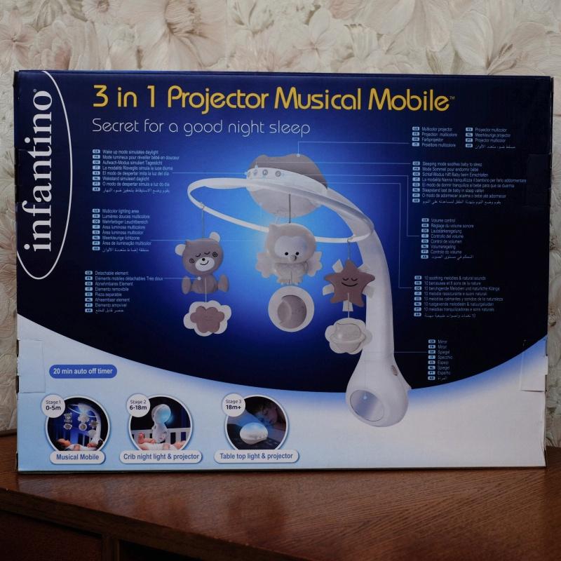Обзор на Музыкальный мобиль-проектор 3 в 1 (серо-бежевый), 4915 Infantino - изображение 5