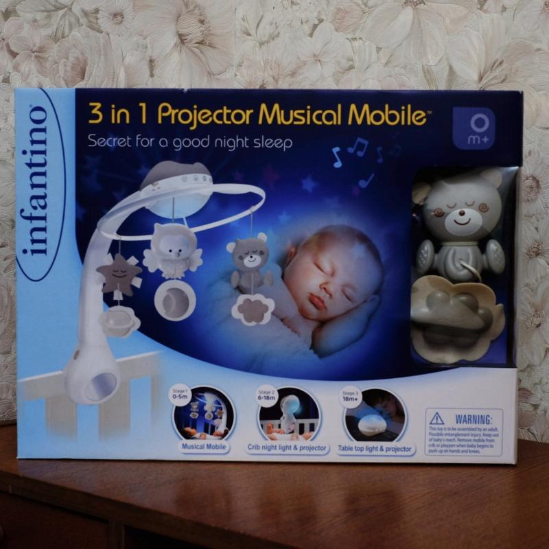 Обзор на Музыкальный мобиль-проектор 3 в 1 (серо-бежевый), 4915 Infantino - изображение 4