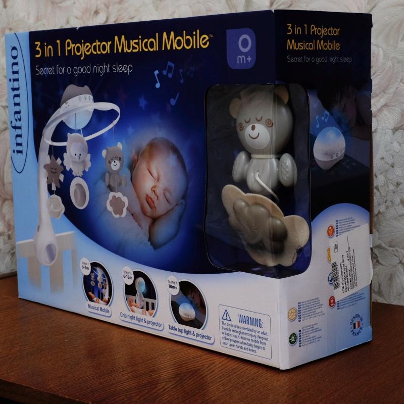 Обзор на Музыкальный мобиль-проектор 3 в 1 (серо-бежевый), 4915 Infantino - изображение 2