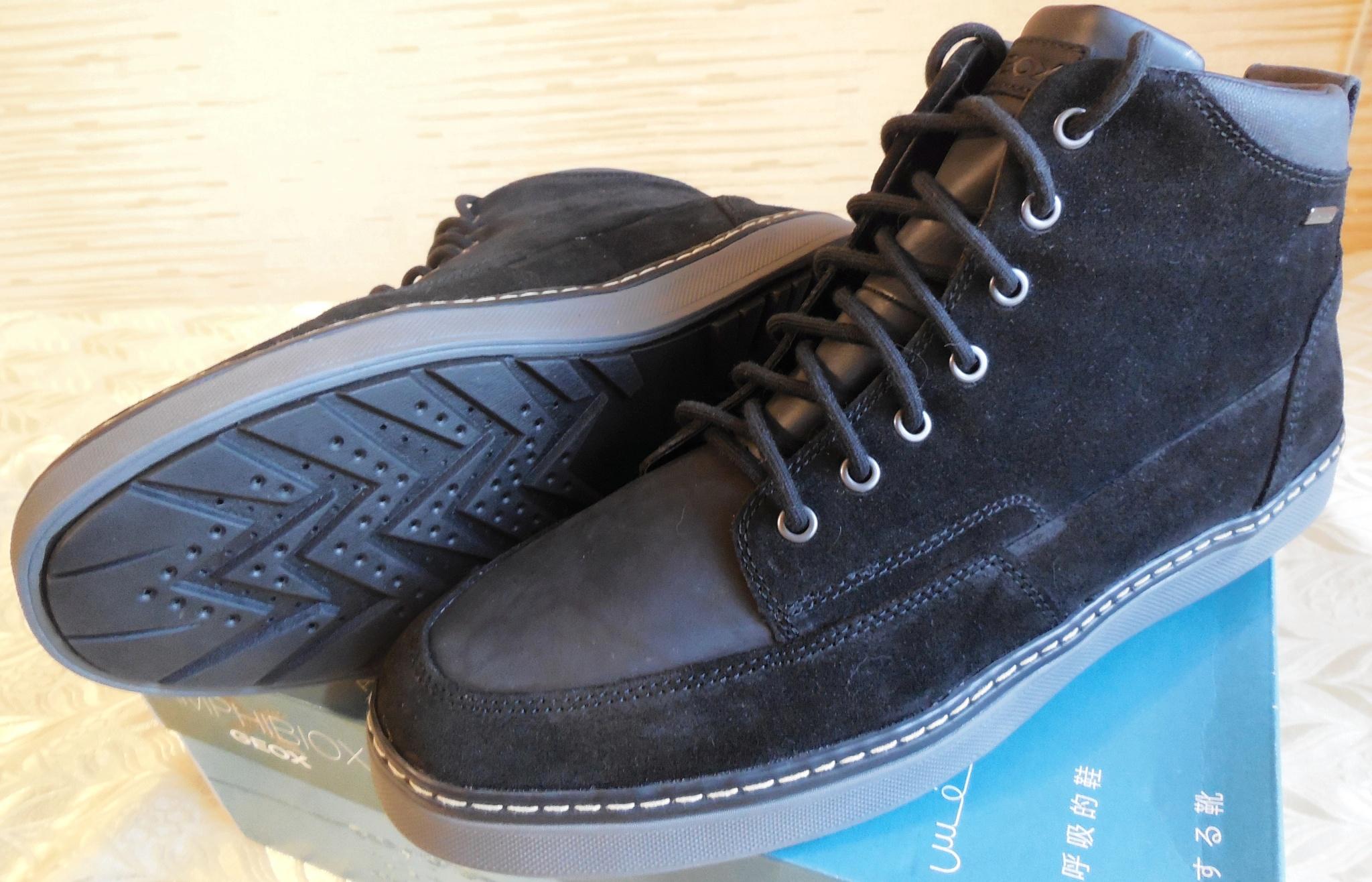 470477915 Обзор на Ботинки GEOX U74T1D02322C9999 мужские, цвет черный, размер 45 -  изображение 1