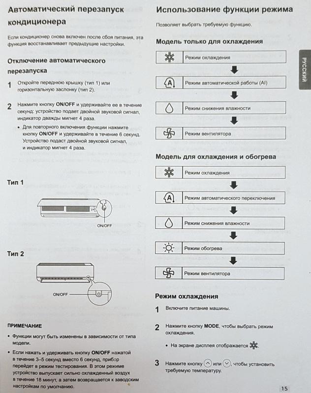 Режимы работы кондиционера lg кондиционер samsung aw05n0d цена