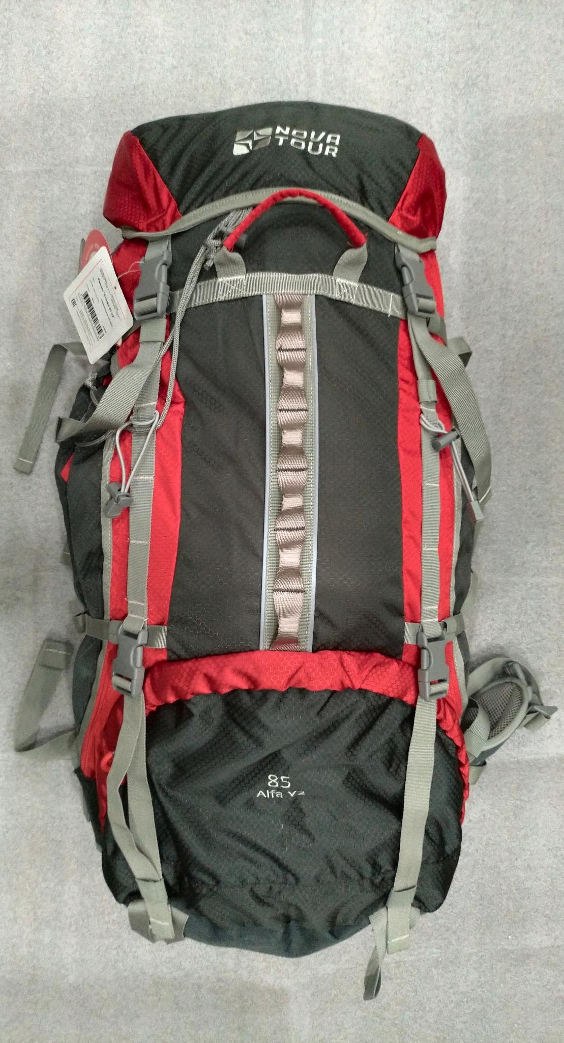 38acd80992b9 Обзор от покупателя на Рюкзак NOVA TOUR Альфа 85 V2, серый/красный ...