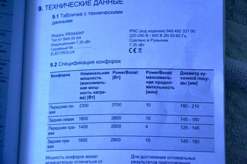Обзор на Индукционная варочная панель Electrolux IPE 6440 KF - изображение 9