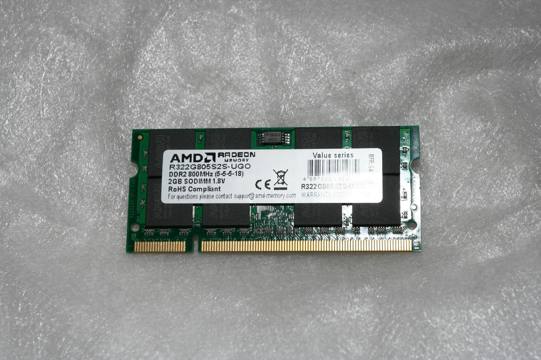 Amd So Dimm Ddr2 2gb Memory 800mhz Pc 6400 R322g805s2s