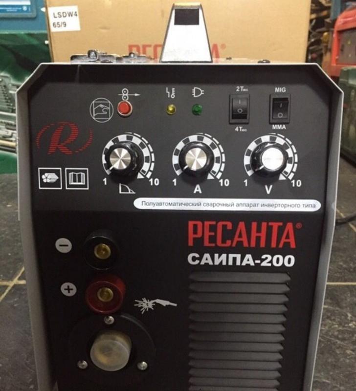 Обзор на Сварочный аппарат Ресанта САИПА-200, инверторный - изображение 1