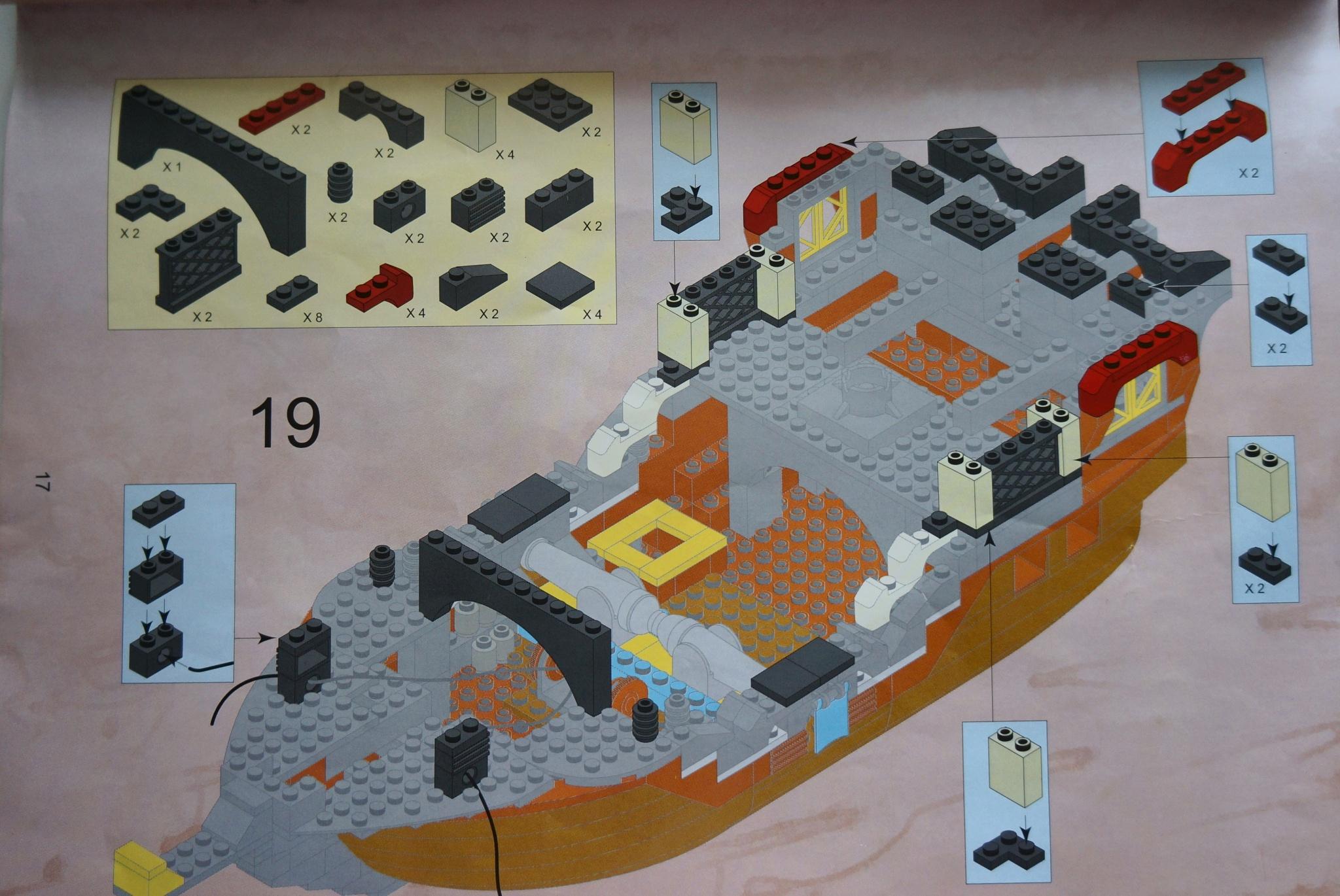 Как сделать из лего корабль по инструкция 956