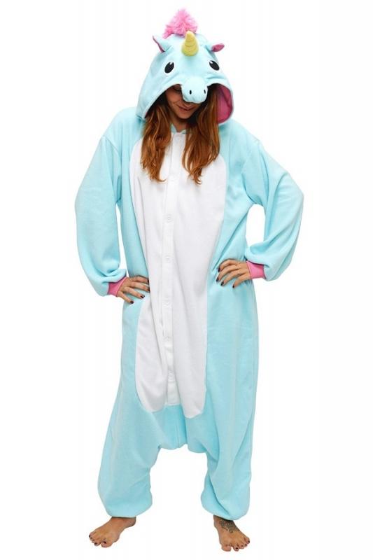 Кигуруми взрослый BearWear BW1008 Единорог голубой размер XL Изображение 1  - купить в интернет магазине с 537d75003484a