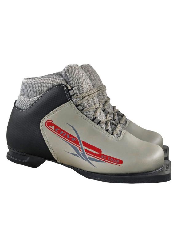 Ботинки лыжные МАРАКС 75мм М350 ACTIVE серебро р.37 — купить в интернет-магазине ОНЛАЙН ТРЕЙД.РУ