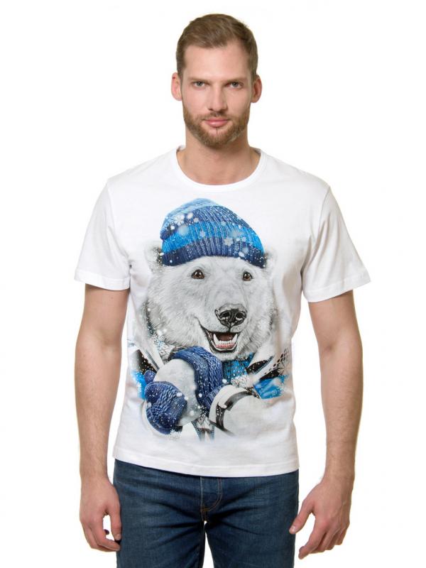 Футболка MF 2-474 Снежный папа мужская, цвет белый, размер XXL 2-474/XXL - купить по выгодной цене в интернет-магазине ОНЛАЙН ТРЕЙД.РУ Тюмень