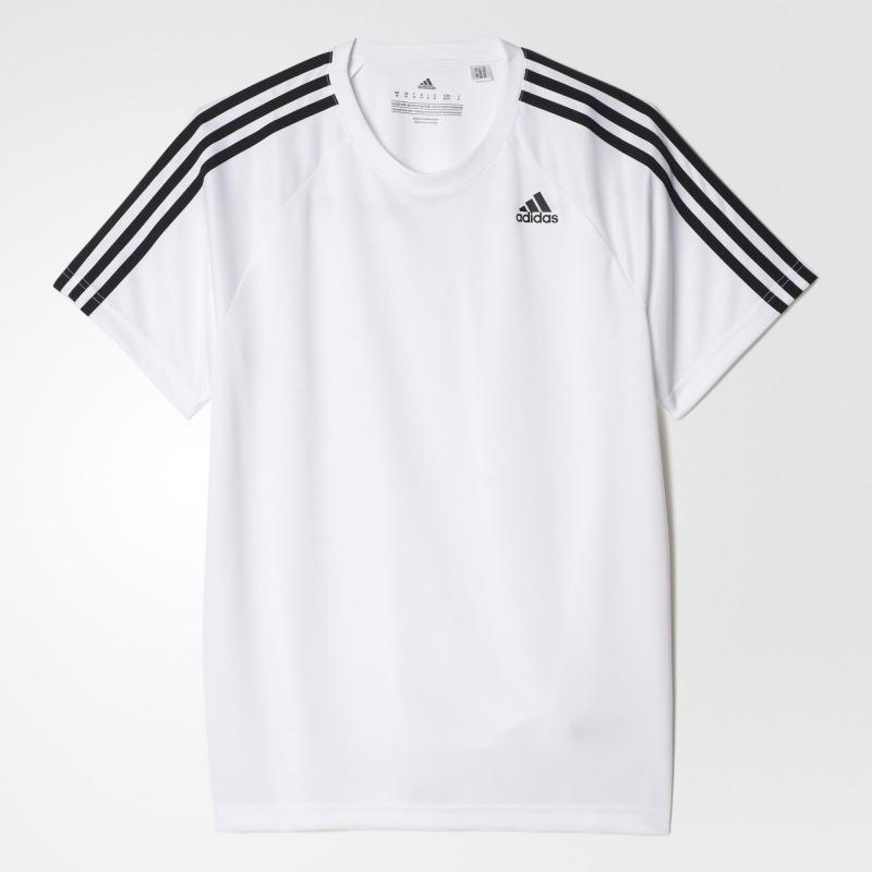 341da74f539a0 Футболка Adidas BK0971 мужская, цвет белый , рус. размер 48-50 (M ...