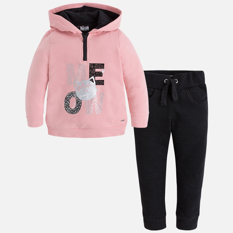 0887cb277dcc Спортивный костюм MAYORAL 4817 36 для девочки, цвет черный, размер 6 лет 116