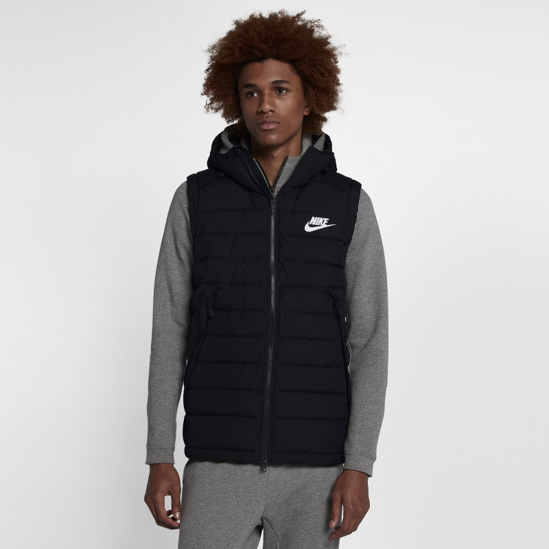 5adab10b Жилет NIKE Sportswear Vest 806858-012 мужская, цвет черный, рус. размер 46