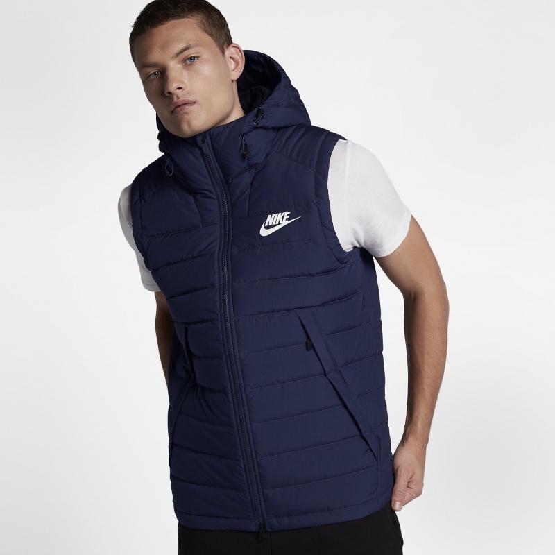 ede48451 Жилет NIKE Sportswear Vest 806858-429 мужская, цвет синий, рус. размер 50