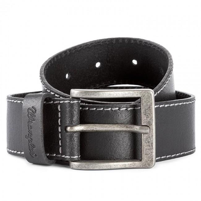 Ремень Wrangler Stitched Belt W0081US01 мужской, цвет черный, длина 105 см — купить в интернет-магазине ОНЛАЙН ТРЕЙД.РУ