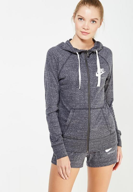 acd86eb4536f Толстовка NIKE 883729-060 Sportswear Hoodie женская, цвет серый, размер  50-52