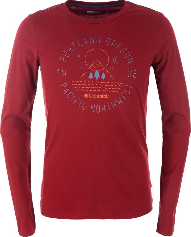 51d0dc905892 Футболка длинный рукав Columbia 1804031 Mill Creek™ Long Sleeve Tshirt  мужской, цвет красный,