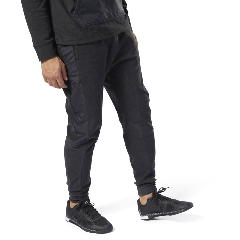 f2b9990a Спортивные брюки REEBOK CY4858 EE MICRO FLC JOGGER мужские, цвет черный,  размер 48-