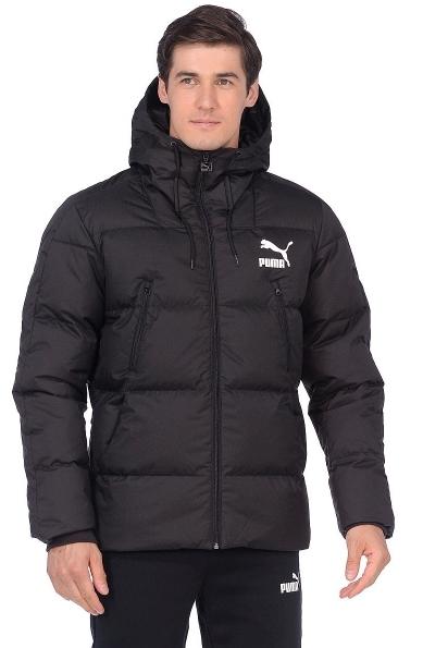 97c57f2e818a Куртка PUMA 57637001 Classics Padded Jacket мужская, цвет черный, размер  50-52 Изображение