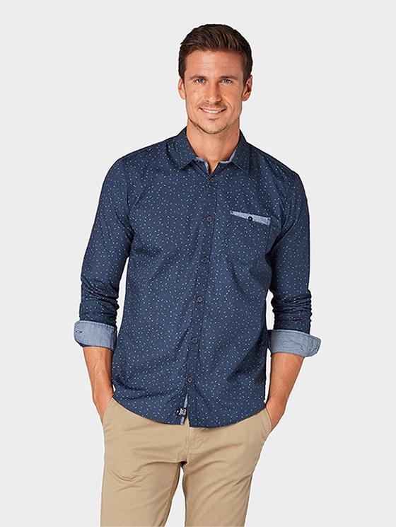 f984009468840b1 Рубашка TOM TAILOR 1004813-13560 мужская, цвет темно-синий, размер XXL  Изображение