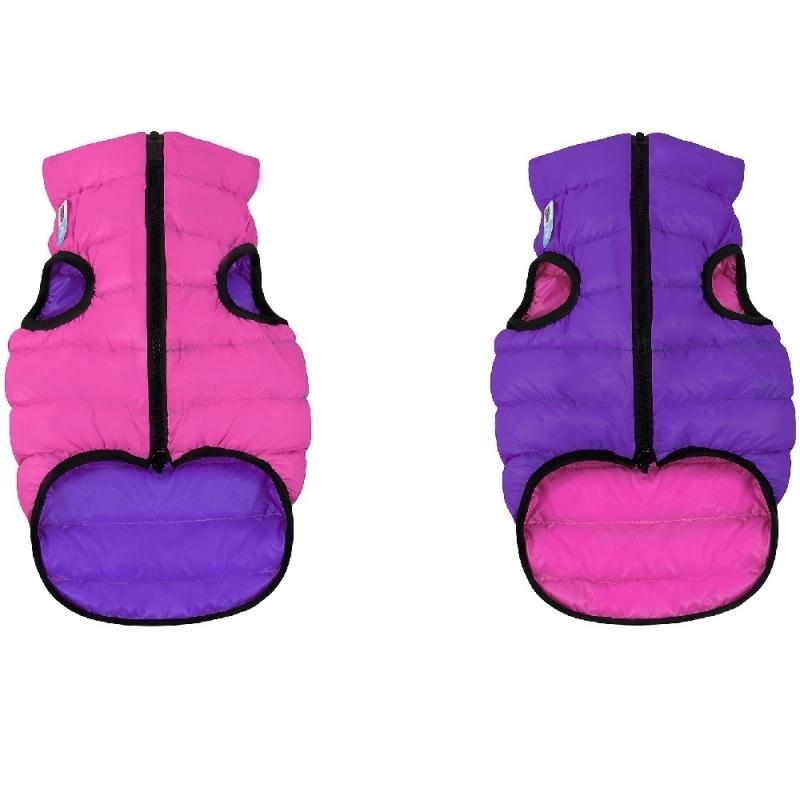 db50a90f3142c Курточка двусторонняя для собак AiryVest размер М 45, розово-фиолетовая  Изображение 1 - купить