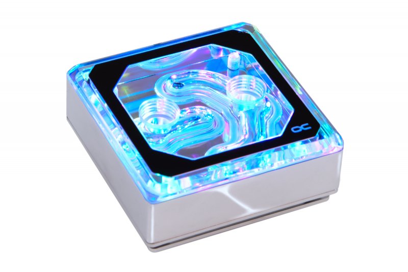 Водоблок для СВО Alphacool Eisblock CPU Aurora Edge - Plexi Chrom Digital RGB (12949_Alphacool) — купить в интернет-магазине ОНЛАЙН ТРЕЙД.РУ