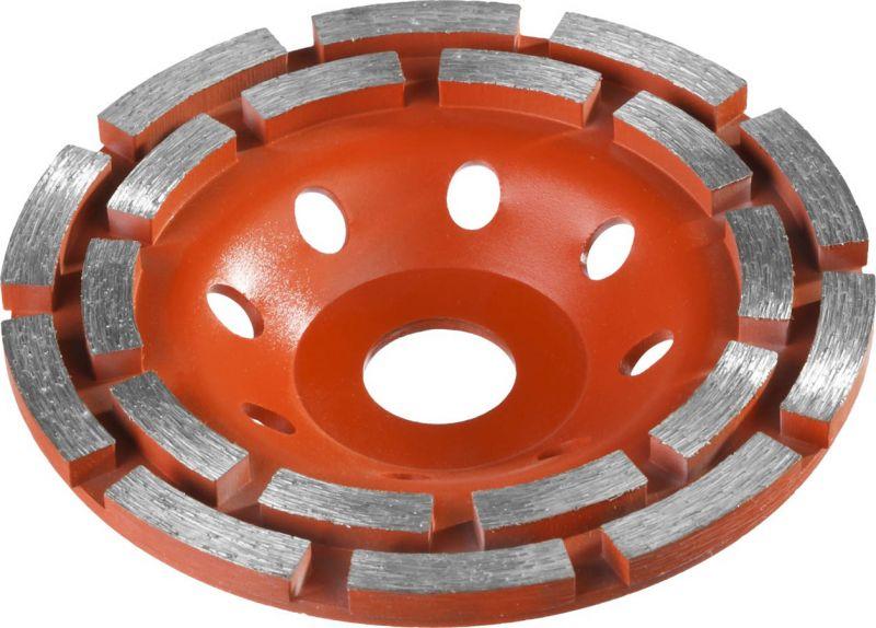 Алмазная чашка ЗУБР шлифовальная по бетону МАСТЕР сегментная двухрядная, 115мм — купить в интернет-магазине ОНЛАЙН ТРЕЙД.РУ